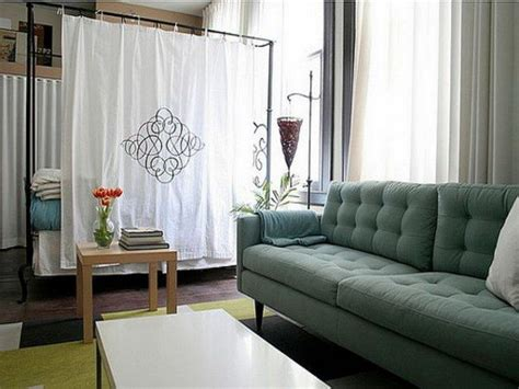 dividing a bedroom with curtains how to divide studio apartment room decor around the world