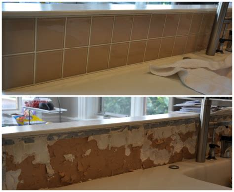 diy how to remove a glass tile backsplash house updated