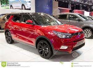 new car image ssangyong tivoli the new 4x4 crossover suv car editorial