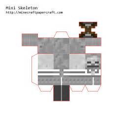 minecraft skeleton template papercraft mini skeleton
