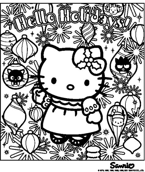 coloring sheets hello kitty christmas hello kitty coloring pages