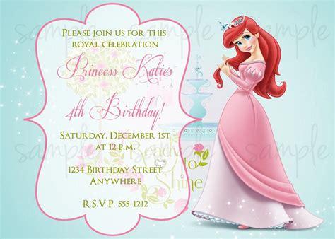 Princess Birthday Invitations   Birthday Party Invitations