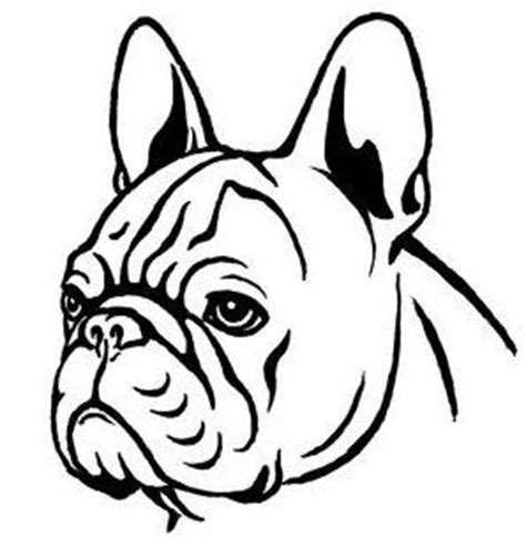french bulldog clipart head pencil and in color french