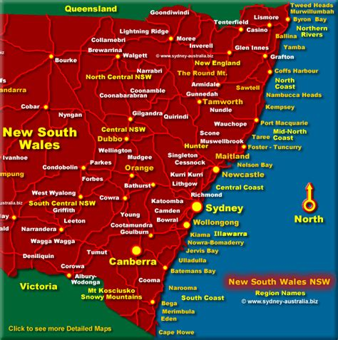 map east coast of australia tourist map of east coast of australia my