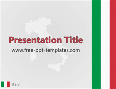 Italy Ppt Template Italian Powerpoint Template