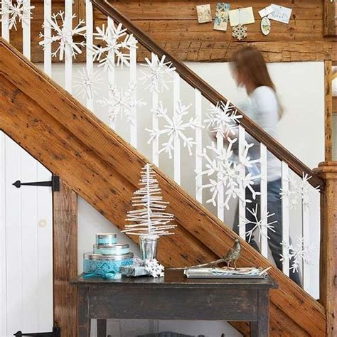 stair railing christmas ideas decorate the stairs for 30 beautiful ideas