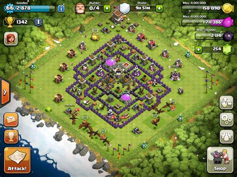 layout in coc best town hall level 8 base layouts in clash of clans