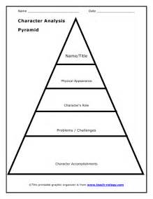 story pyramid template character map worksheet