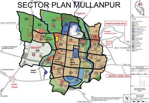 layout plan eco city mullanpur omaxe phase 5 small size plots new chandigarh mullanpur