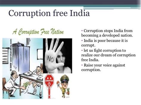 My Vision Of Corruption Free India Essay by Db6213