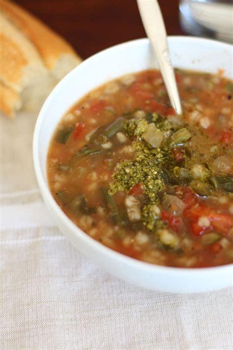 Panera Bread Garden Vegetable Soup Crockpot Vegetarian Garden Vegetable Soup With Pesto