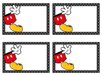 Mickey Mouse Place Card Template by Blank Disney S Mickey Mouse Classroom Labels Numeros Y
