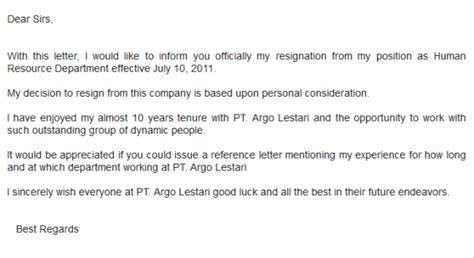 cara membuat surat resign bahasa inggris baik dan benar