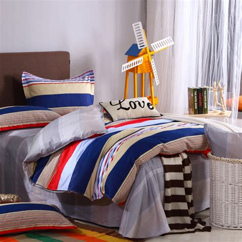 colorful queen comforter colorful stripe 4pcs queen size 100 cotton classic color