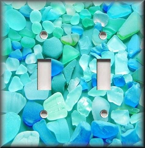 beach light switch covers light switch plate cover beautiful beach glass blues