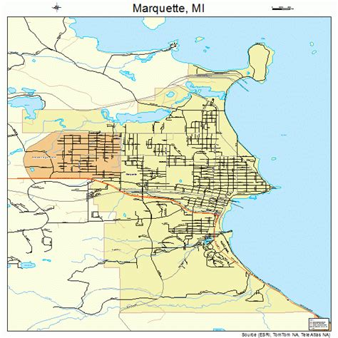 mi map marquette michigan map 2651900