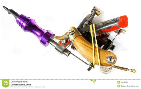 how a tattoo machine works machine to work razor blade 004 stock image