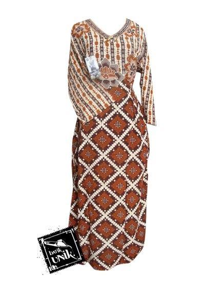 Daster Gamis Muslim Longdress M 01 baju batik longdress motif liris anyaman daster