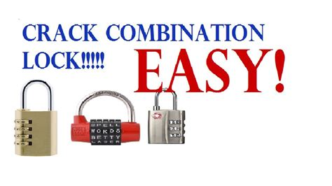 How To Open A Knob Lock by How To Combination Lock 3 Seconds No Tools