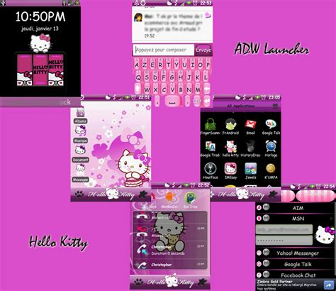 theme line android hello kitty hello kitty theme android by ladypinkilicious on deviantart