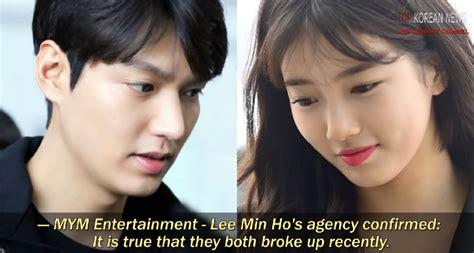 what is the relationship between lee min ho and ku hye sun lee min ho and suzy confirmed to have broken up k people