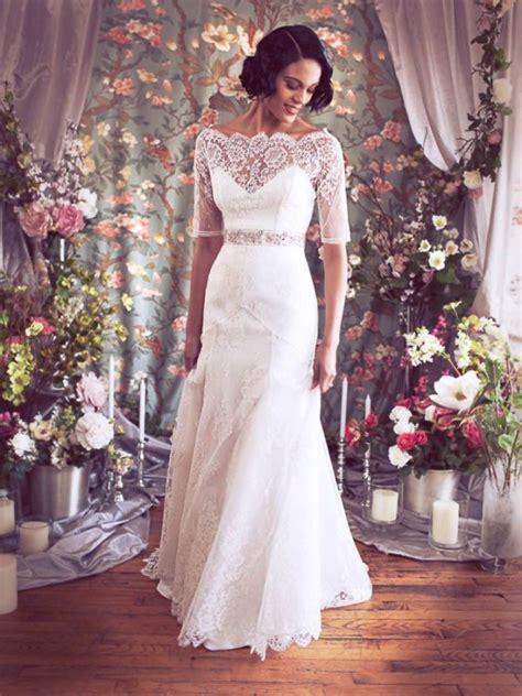 Simple Lace Vintage Wedding Dresses   Cherry Marry