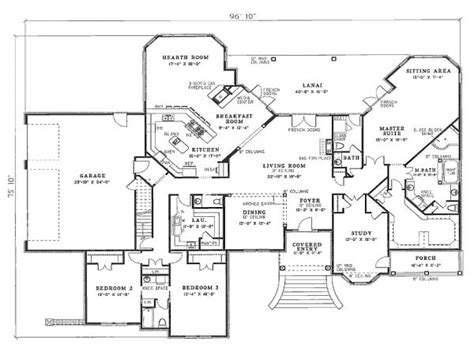 Bedroom House Plans by 4 Bedroom House Plans Residential House Plans 4 Bedrooms