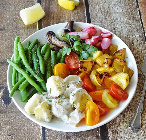 vegetables plate roasted vegetable salad plate theveglife