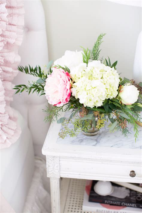 rachel ashwell the guest room pink peonies by rach parcell