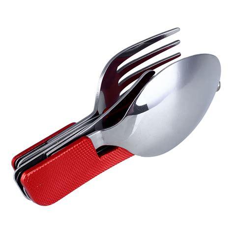 folding cutlery set folding knife spoon fork cutlery set pocket outdoor