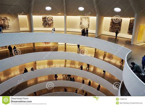 interior design museum nyc interior design of guggenheim museum editorial stock image