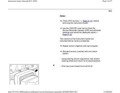audi a4 instrument cluster wiring diagram images wiring
