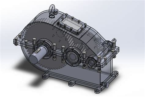 solidworks tutorial gearbox tow stage gear box stl step iges solidworks 3d cad