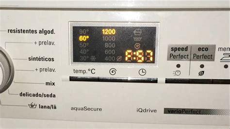 error  lavadora siemens wmsee solucion fault