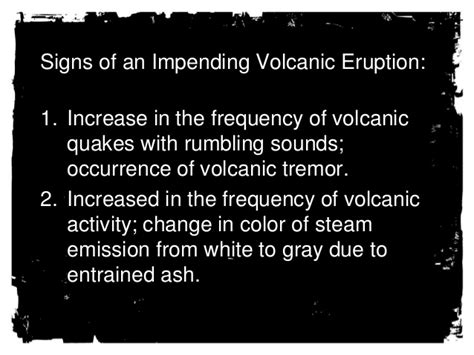 signs of an volcanic eruption are you prepared