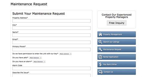 apartment maintenance request form template property management theme responsive wp theme