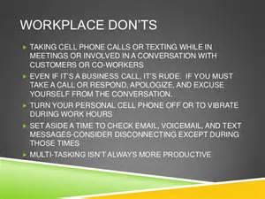 Workplace etiquette
