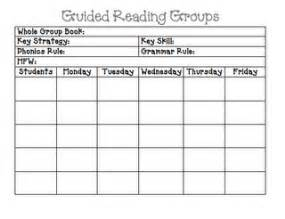 guided reading schedule template guided reading plan template planning