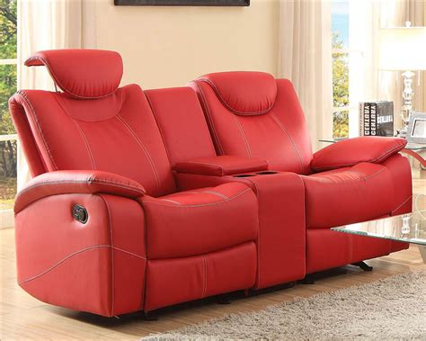 red reclining loveseat red double glider reclining loveseat talbot by homelegance
