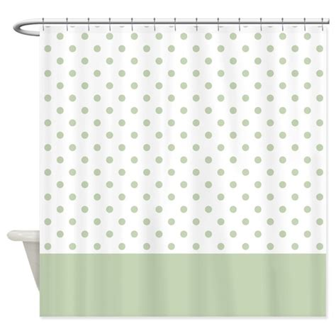light green dots 2 shower curtain by