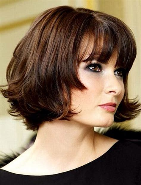 bob hairstyles for round faces and thick hair short bob hairstyles with bangs for round faces and thick