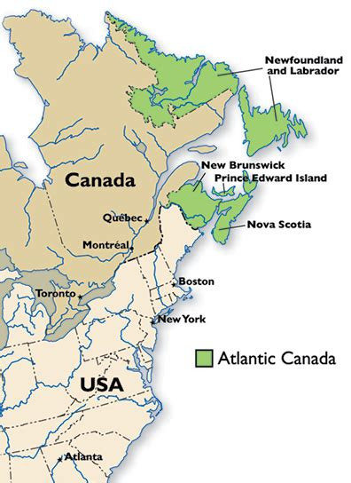 map of canada eastern provinces atlantic canada s technology industry