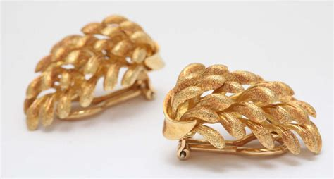 what era were banana clips yellow gold banana clip on earrings for sale at 1stdibs