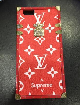 Supreme X Louis Vuitton Casing Iphone 5 6 7 8 Plus X Samsung S6 lv louis vuitton x supreme truck monogram iphone 7 6