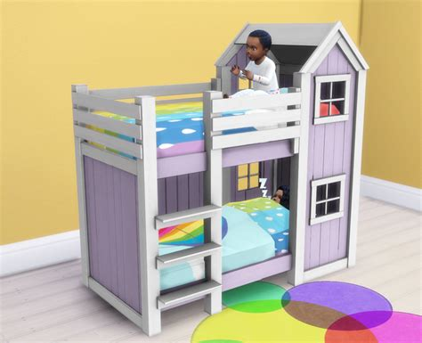4 bed bunk bed my sims 4 separated toddler mattresses in 2 heights