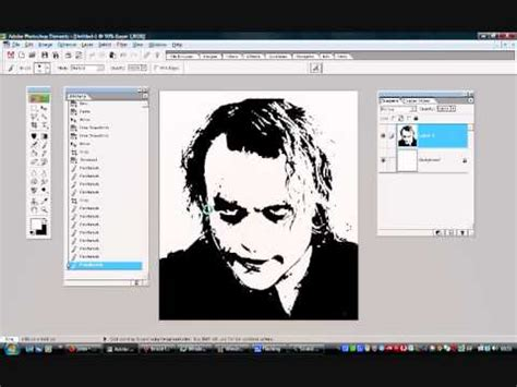 designing stencils photoshop tutorial on turning an image into a stencil using