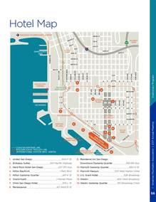 San Diego Hotel Map by Hotel Information