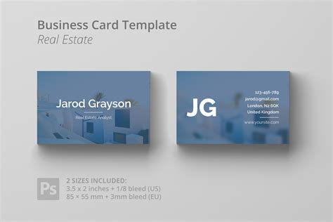 realtor business card templates free 30 modern real estate business cards psd decolore net