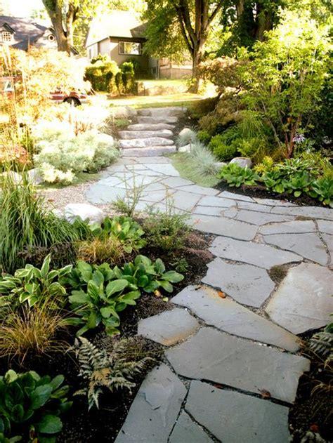 gestaltung garten flagstone walkway home design ideas pictures remodel and