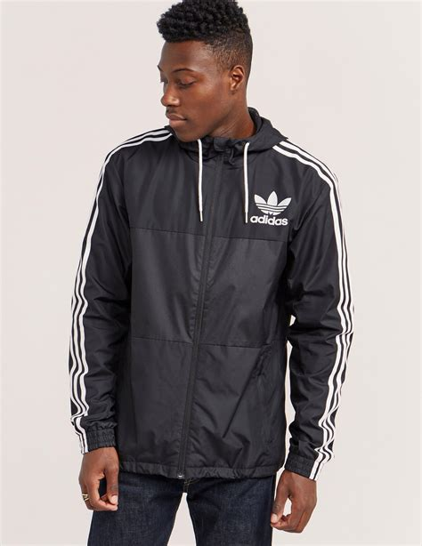 Jacket Hoodies Adidas Garis Merah lyst adidas originals california windbreaker lightweight jacket in black for